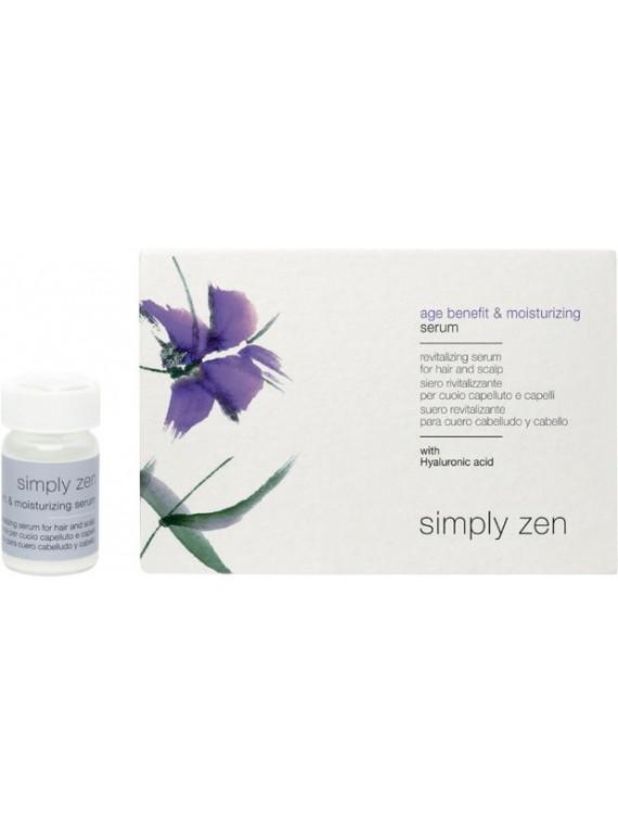age benefit & moisturizing serum siero rivitalizzante per cuoio capelluto e capelli simply zen